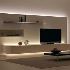 Most recent designs and pleasing TV wall designs. Living room tv Alcove S… Most recent designs and pleasing TV wall designs. Living Room Tv, Home And Living, Cozy Living, Kitchen Living, Dining Room, Muebles Living, Tv Wall Decor, Wall Tv, Tv Wall Mount