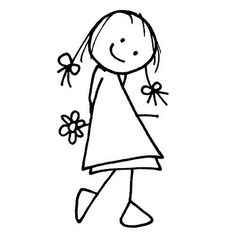 Wood stamp - Girl & flower - 5 x cm Scrapboo .-Tampon bois – Fille & fleur – 5 x cm Scrapbooking – Artemio – Tam… Wood stamp – Girl & flower – 5 x cm Scrapbooking – Artemio – Wood stamp – Girl & flower – 5 x cm - Art Drawings For Kids, Doodle Drawings, Drawing For Kids, Easy Drawings, Doodle Art, Art For Kids, Stick Figure Drawing, Art Mignon, Wood Stamp