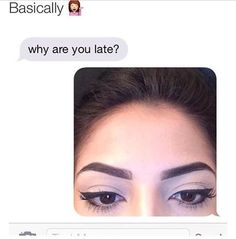 eyebrows gotta be on point