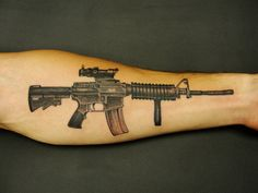 Super gun tattoo design on arm. Find and save ideas about Super gun tattoo design on arm on Tattoos Book. More than FREE TATTOOS Baby Tattoos, Head Tattoos, Body Art Tattoos, Sleeve Tattoos, Tattoos For Guys, Gun Tattoos, Tatoos, Native Tattoos, Celtic Tattoos
