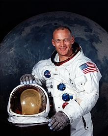 """Edwin Eugene """"Buzz"""" Aldrin, Jr. (born January 20, 1930) is an American astronaut, and the second person to walk on the Moon. He was the lunar module pilot on Apollo 11, the first manned lunar landing in history. On July 20, 1969, he set foot on the Moon, following mission commander Neil Armstrong. He is also a retired United States Air Force pilot.  Click pic to read more..."""
