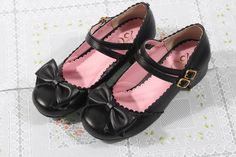 Two Strap Lolita Shoes (Black)
