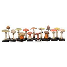1stdibs | Painted Wood/Ceramic Wild Mushrooms priced individually