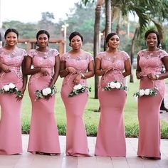 African Bridesmaid Dresses, Blush Pink Bridesmaid Dresses, African Lace Dresses, Latest African Fashion Dresses, African Print Dress Designs, Plus Wedding Dresses, Shweshwe Dresses, Looks Style, Collections
