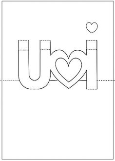 i love you card template  Crafts that look cool but i will never