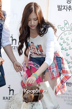 A Pinks Jung Eun Ji & Son Na Eun at Meet The Family - HAZZYS 'Big H Run' Event on April 24, 2013 [PHOTOS] | Style