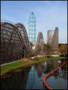 Kingda Ka, El Toro, and Runaway Train at Six Flags, Jackson NJ