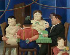 """""""Jugadores de cartas II""""  Fernando Botero, 1989"""