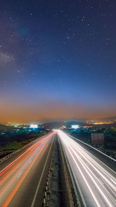 Image for Long Exposure Light Trails Cars iPhone 6 Plus HD Wallpaper
