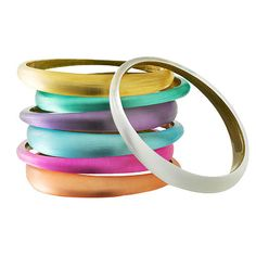 Alexis Bittar bangles! Ive had a love affair with his jewelry for some time now...