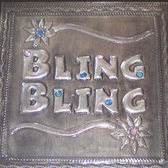 Embossed Pewter Jewelery box Bling Bling