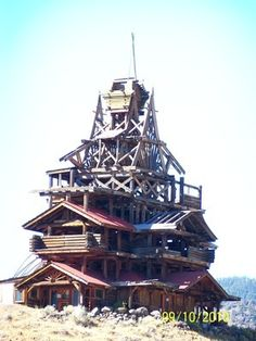 Wyoming's dizzying Smith Mansion is rumored to be built over a mine shaft or by the hands of a madman or as a perverse joke, but the truth is that it is simply the work of a man who could not stop building.