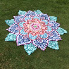 Wholesale Multicolor Indian Mandala Paisley Lotus Shape Beach Throw - Blue One Size For Women Natural Mandala Blanket, Mandala Yarn, Mandala Print, Mandala Tapestry, Crochet Mandala, Mandala Pattern, Beach Scarf, Indian Mandala, Indian Prints