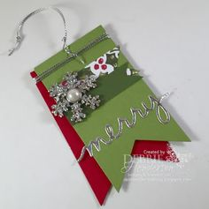 Stampers For Others Facebook Hop using Stampin' Up! Silver Foil, Silver Cording Tim, Home For Christmas DSP and Snowflake Elements. Debbie Henderson, Debbie's Designs