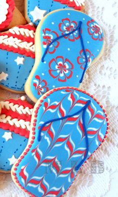 Summer Lovin' - cute with the 4th of July cookies for cookout
