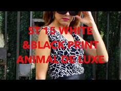 Cosmetics&Go: ST 15 WHITE & BLACK PRINT ANIMAL DE LUXE