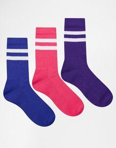 ASOS 3 Pack Sports Style Socks