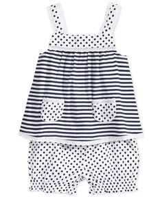 First Impressions Baby Girl Stripes & Polka Dots Bloomers