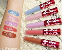 Which is your favorite shade from the Livin' on a Prairie Collection? Swatches by @1timelesslove #limecrime #velvetines