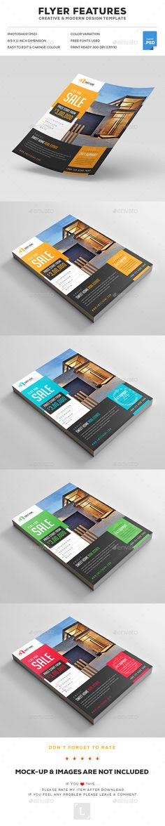 #Real Estate Flyers - Flyers Print Templates Download here: https://graphicriver.net/item/real-estate-flyers/17092574?ref=artgallery8