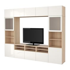 Tv Storage, Extra Storage, Living Room Walls, Living Room Ideas, Drawer  Runners, Ikea Tv, Tv Units, Wall Cabinets, Frosted Glass