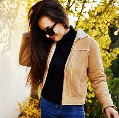 fall outfit by secondhand inspired  #jacket #black #sweater #outfit #secondhand #fall
