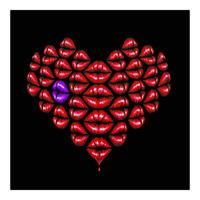Love Lips - Purple By Osch aka Otto Schade: Category: Art Currency: GBP Price: GBP180.00 Retail Price: 180.00 'Love Lips ヨ Purple' is a…