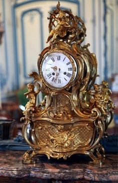 Paris, France, July 2009 - ornate antique clock in the Carnavalet Museum, © Peter Spirer
