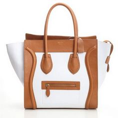 Celine Luggage Medium in Original Leather White Apricot [Celine-242] - €235.00
