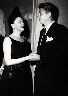Judy with Ronald Reagon