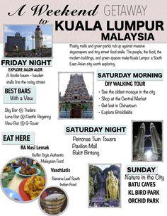Explore the sights, sounds and smells of Kuala Lumpur on a whirlwind weekend getaway. Malaysia Truly Asia, Singapore Malaysia, Malaysia Trip, Malaysia Itinerary, Malaysia Travel Guide, Kuala Lumpur Travel, Kuching, Borneo, Sibu