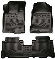 Husky Liners 96321 WeatherBeater Black Front and 2nd Seat Floor Liner -- Click image to review more details.
