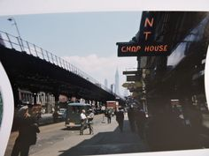 1949 3rd. Ave & E.15th. St, Lower East Side Subway New York City NYC Color Photo