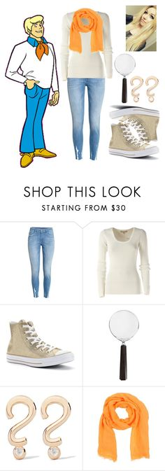 """""""Scoody Doo- Fred"""" by conversewolfy ❤ liked on Polyvore featuring H&M, Michael Kors, Converse, Cedes, Alison Lou and Momonì"""