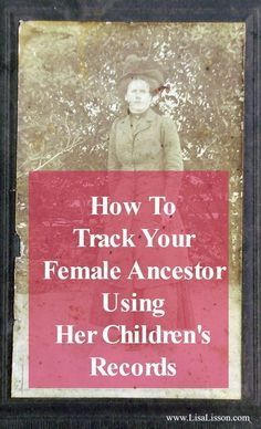 "Tracking down our female ancestors requires thinking ""outside the box"". Always focusing on her may not yield our desired results. By taking our focus off of our female ancestor, we can be sure of exhausting all possibilities of finding her in the records. Free Genealogy Sites, Genealogy Forms, Genealogy Research, Family Genealogy, Genealogy Humor, Genealogy Chart, Free Genealogy Records, Family Tree Research, Genealogy Organization"