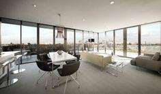 Love floor to wall windows!!