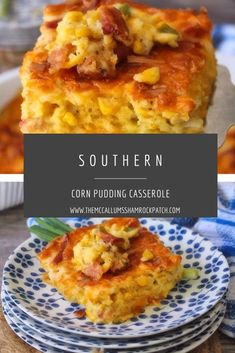 Southern Corn Pudding Casserole is the iconic classic delicious casserole that was made by grannie, especially for Sunday dinners, holidays, and church potlucks, that has a sweet, cheesy golden layer, and a delicious, creamy corn center. Best Side Dishes, Side Dish Recipes, Easy Dinner Recipes, Breakfast Recipes, Easy Meals, Corn Recipes, Delicious Recipes, Dinner Ideas, Recipies