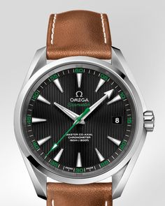 OMEGA Watches: Seamaster Aqua Terra 150 M Omega Master Co-Axial 41.5 mm - Steel on leather strap - 231.12.42.21.01.003