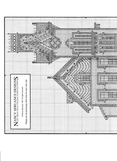 Schema punto croce The Abbey 02