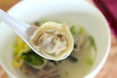 Learn how to make Korean Rice Cake Soup with Dumplings ( Dduk mandu gook). It's a Korean tradition to eat rice cake soup for good luck in the New Year and to turn a year older. Korean Dumplings, Dumplings For Soup, Easy Korean Recipes, Asian Recipes, Ethnic Recipes, Korean Rice Cake Soup, Korean Side Dishes, Meal Planner Printable, Korean Dessert