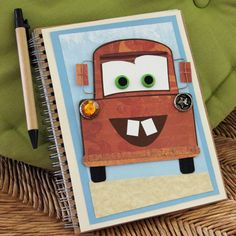 """Here's a journal kids will never """"tire"""" of writing in. Decorated with the likeness of Radiator Spring's rustiest resident, it's meant for mapping out..."""
