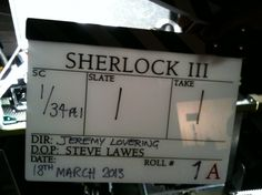 Exclusive! Ep 1 will be called 'The Empty Hearse'. The game is on! (Mark Gatiss/Twitter, 18 Mar 2013)