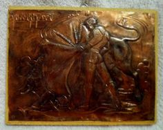 Copper Etched Wall Art Bullfight Matador-Chile 17082503mm