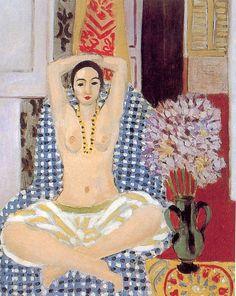"""peinture française : Odalisque, """"La pause hindoue"""", Henri Matisse"""