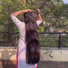Bun Hairstyles For Long Hair, Braids For Long Hair, Pretty Hairstyles, Black Hair Video, Long Hair Video, Long Dark Hair, Very Long Hair, Indian Long Hair Braid, Edgy Hair
