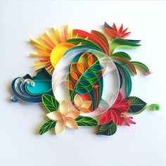 Really feeling this #tropical vibe from @sabeenu's #paperquilling #art. (For more getaway vibes, check out @designmilktravels!)