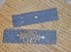 Bridal Garter Set A Little Bit of Blue with by DESIGNERSHINDIGS, $28.00
