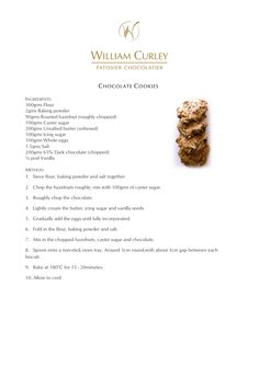 Chocolate cookies (william curley patissier in UK)