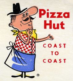 originated in Wichita, Kansas; the first Pizza Hut location is still there, located on the Wichita State University campus. Old Advertisements, Retro Advertising, Retro Ads, Advertising Signs, Vintage Ads, Vintage Signs, Vintage Photos, Vintage Menu, Advertising Archives