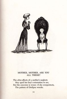 Scrap Irony: Edward Gorey Illustrates Snarky Cultural Commentary, 1961 | Brain Pickings